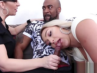Mating Pot-head Nina Kayy Bangs BBC BF &_ Milf Lawyer Sara Jay!
