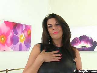 An older woman means fun fastening 225