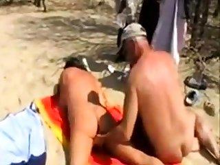 Skirt fingered by stranger at the beach