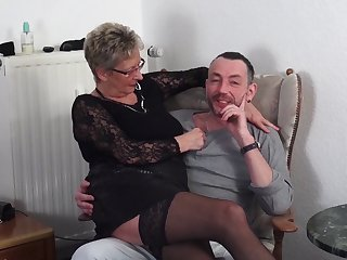 Mature German couple loves having sex encircling a younger couple