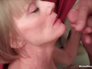Horny amateur granny Wild Chap-fallen Melanie gets hard sex here.