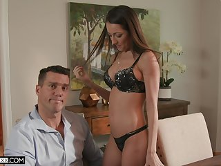 Appetizing tanned babe Lily Adams just thirsts be required of carnal doggy banging
