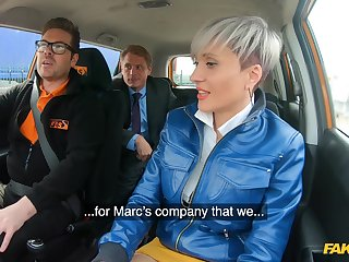 Short hair Tanya Virago fucked by the driving teacher in the motor vehicle