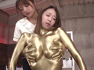 Gold Paint Homo Massage