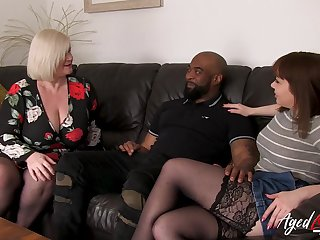 Old and young british ladies experiencing big black cock in hardcore way
