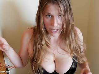 hot chubby MILF Xev Bellringer POV video