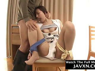 Amazing Japanese Hairy cunt Mommy Fucks Say no to Stepson