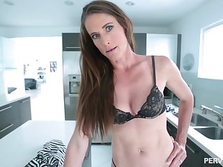 Lean brunette babe with a navel piercing, Sofie Marie is waiting to get a huge cock