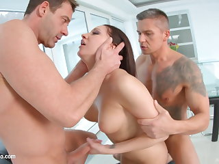 Felicia Kiss enjoys a full load of hot jizz inside her