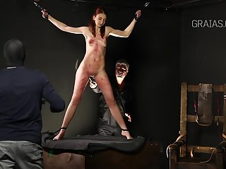 Slim lady is secure BDSM and likes to get whipped very hard, while tied almost tight