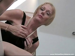 Horny granny likes to do a striptease and fucked hard from the outrageous