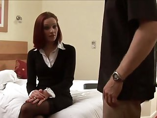 Superb bit of crumpet spanks my pest and then strokes my dick with her hands