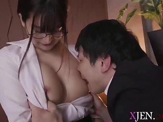 Asian, Big tits, Blowjob, Brunette, Japanese, Milf, Natural, Student, Tits,